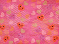 Cute hearts pink paper pattern Stock Photos
