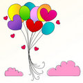 Cute heartshaped balloons Royalty Free Stock Photos