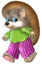 Cute hedgehog illustration Royalty Free Stock Photo