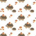 Cute hedgehog pattern