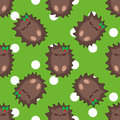 Cute hedgehog vector seamless pattern illustration Royalty Free Stock Photo
