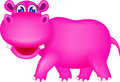 Cute hippo cartoon Royalty Free Stock Photos