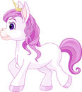 Cute horse princess walking illustration of Stock Photography