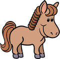 Cute horse vector illustration Stock Image
