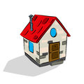 Cute house sketh Stock Image