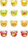 Cute icon bear Royalty Free Stock Photos