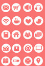 Cute icon set, pink icon set