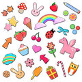 Cute icons Stock Images