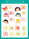 Cute icons Stock Photography
