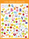 Cute icons Royalty Free Stock Images