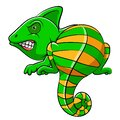 Cute iguana animal cartoon Royalty Free Stock Photo