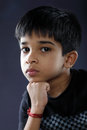 Cute indian boy posing to camera Royalty Free Stock Image