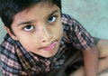 Cute Indian School Boy Stock Photo