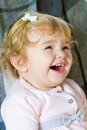 Cute infant image of the beautiful girl Stock Images
