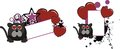 Cute inlove panther cartoon ball copyspace funny in vcetor format Stock Photo