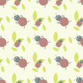 Cute insects seamless pattern beautiful art graphic bugs wallpaper cartoon design summer vector illustrtion Royalty Free Stock Photo