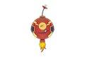 Cute Iron Robo. Royalty Free Stock Photo
