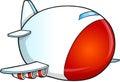 Cute jumbo jet vector cartoon illustration art Stock Images