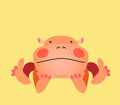 Cute kawaii animalistic cartoon character hippo eps vector Royalty Free Stock Photography