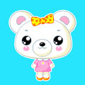 Cute kawaii bear toy vector character Royalty Free Stock Photography
