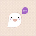 Cute kawaii ghost halloween vector illustration Stock Photography