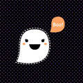 Cute kawaii halloween ghost for vector cartoon Royalty Free Stock Photo