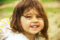 Cute kid playing on send in summer day child Royalty Free Stock Photos