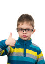 Cute kid with thumb up image of Royalty Free Stock Images