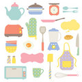 Cute Kitchen Collection Stock Photography