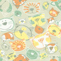 Cute Kittens seamless pattern Royalty Free Stock Images