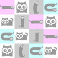 Cute kittens seamless pattern Stock Photography