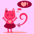 Cute kitty girl Royalty Free Stock Photo