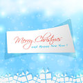 Cute label for merry christmas sample Stock Photo