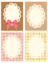 Cute lace pattern vector file eps Royalty Free Stock Photo