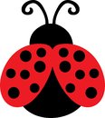 Cute Lady Bug Clip Art Royalty Free Stock Photo