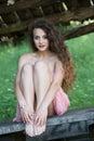 Cute lady wear a pretty summer dress Royalty Free Stock Photo