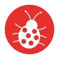 Cute ladybug isolated icon
