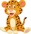 Cute leopard cartoon illustration of Royalty Free Stock Photos