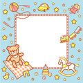 Cute light baby frame toys Stock Images
