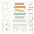 Cute light color design elements set Royalty Free Stock Photo