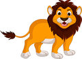 Cute lion cartoon smiling illustration of Stock Photos