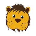 Cute lion face icon