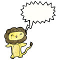 Cute lion roaring cartoon Stock Photos