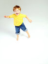 Cute litle boy having a great fun Royalty Free Stock Photos