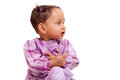 Cute little african american baby girl- Black people Royalty Free Stock Photography