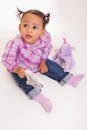 Cute little african american baby girl- Black people Stock Image