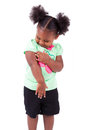 Cute little african american girl Royalty Free Stock Images