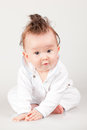 Cute little baby boy with fancy haircut Stock Photography