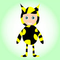 Cute little baby boy wearing funny bee costume Royalty Free Stock Image