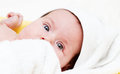 Cute little baby detail portrait Royalty Free Stock Photo
